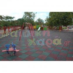 Πιστοποιημένη Παιδική Χαρά με ελαστικό δάπεδο ασφαλείας
