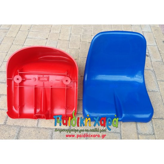 Κάθισμα εξέδρας με πλάτη (πιστοποιημένα με ΕΝ12727) - ΔΙΑΣΤΑΣΕΙΣ