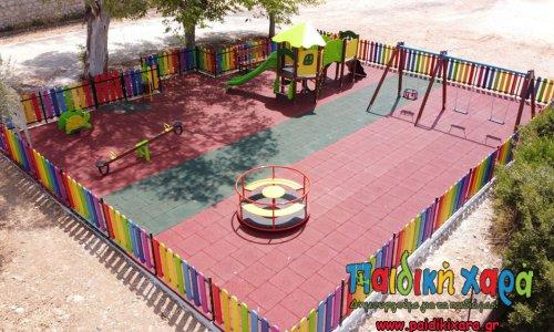 Συνεχίζεται η κατασκευή 30 σύγχρονων παιδικών χαρών στο Δήμο Ερυμάνθου