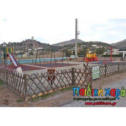 Εκσυγχρονισμός παιδικής χαράς με ελαστικό δάπεδο EPDM και όργανα (πρότυπο ΕΝ1176:2017 , ΕΝ1177:2018) στα Δωδεκάνησα