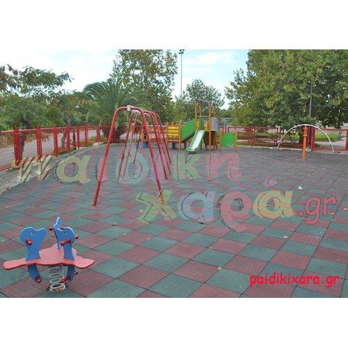 Παιδική χαρά με ελαστικό δάπεδο και όργανα στον Δήμο Μεσσήνης
