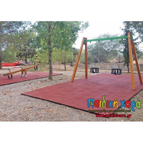 Παιδική χαρά στον Δήμο Μονεμβασιας με ξύλινο εξοπλισμό