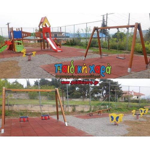 Ανακαίνιση παιδικής χαράς στον Δήμο Δομοκού Ν.Φθιώτιδας με ελαστικό δάπεδο EPDM