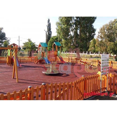 Νέα παιδική χαρά με ελαστικό δάπεδο ασφαλείας στον νομό Αιτωλοακαρνανίας