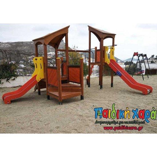 Σύνθετο παιδικής χαράς με σκάλα και αναρρίχηση