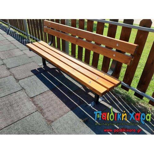 Ξύλινο παγκάκι 5 ξύλων 1.8μ ή 2μ.