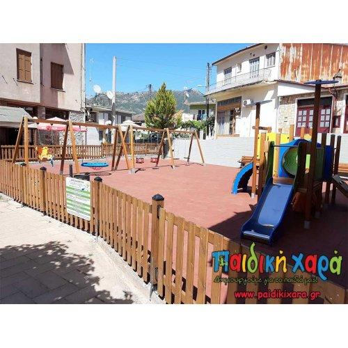 Ανακαίνιση παιδικής χαράς στον Δήμο Καλαβρύτων Νομού Αχαίας με δάπεδο EPDM