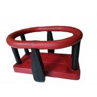 Κάθισμα κούνιας για νηπια-παιδιά (κόκκινο-μαύρο)
