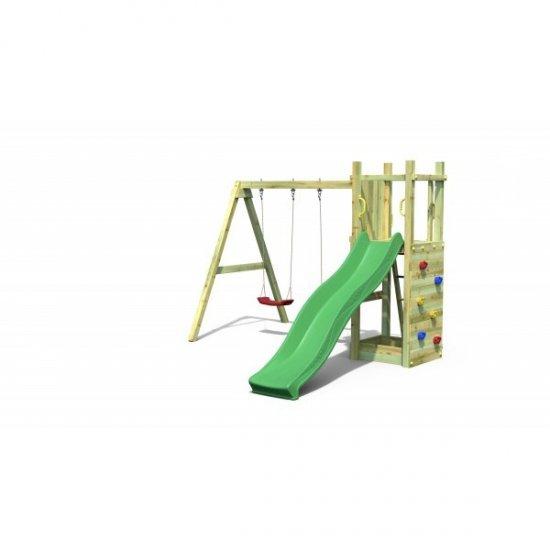 Ξύλινη Παιδική Χαρά Με Τσουλήθρα , διπλή κούνια , αμμοδόχειο και αναρρίχηση