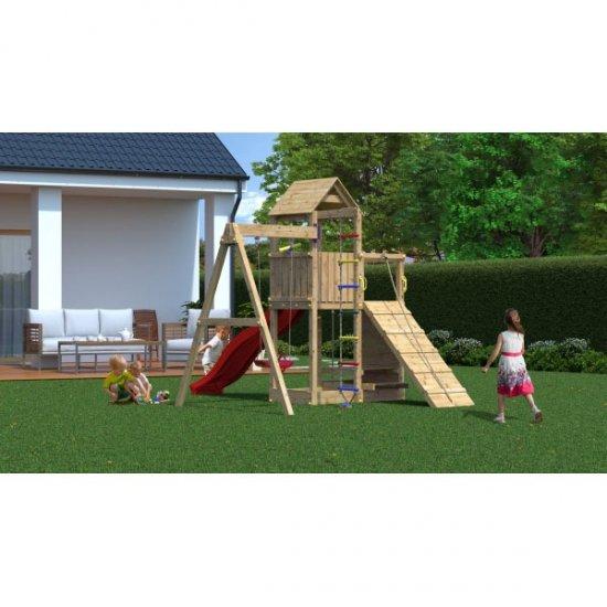 Ξύλινη Παιδική Χαρά κήπου με Αναρρίχηση και Τσουλήθρα